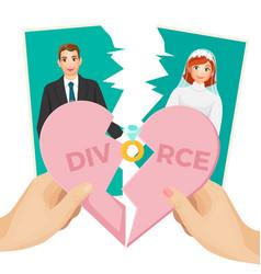 divorce concept of splitted vector image vector image