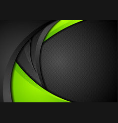 green and black contrast corporate waves vector image vector image