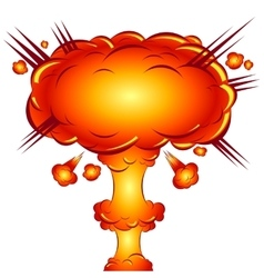 In the style of a comic explosion the atomic bomb vector