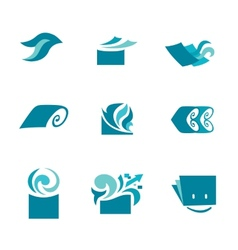 Marketing icons vector image