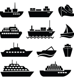 Ship and boat vector image