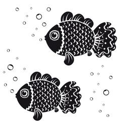 fish black vector image vector image