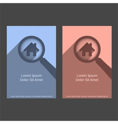 Search House Design vector image vector image