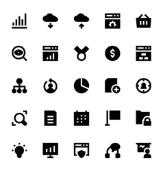 SEO Web Optimization Icons 2 vector image