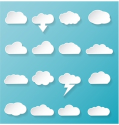 Shiny White Cloud Icons vector image vector image