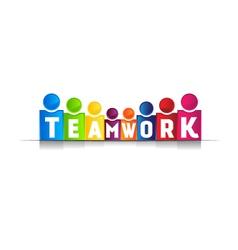 Teamwork concept word logo vector image