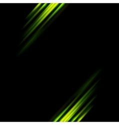 Abstract dark green stripes background vector image vector image