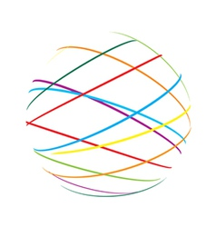 abstract sphere color lines vector image