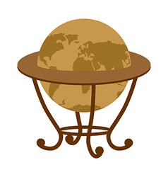 Antique vintage globe on stand Vintage school vector