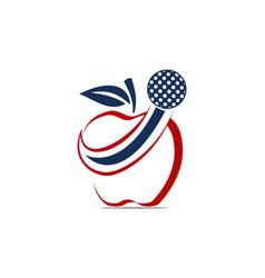apple golf ball vector image