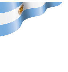 argentina flag on a white vector image