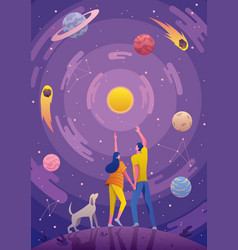 astrology astronomy background vector image