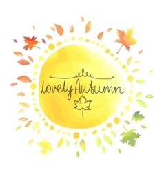 Autumn yellow background for text vector