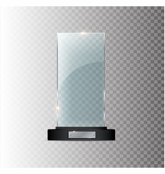 Blank Glass Trophy Award a Vector Images (over 360)