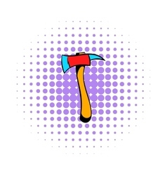 Axe for a firefighter icon comics style vector image