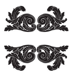 baroque of vintage elements for design vector image