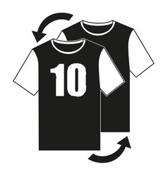 black and white soccer player replacement icon vector image