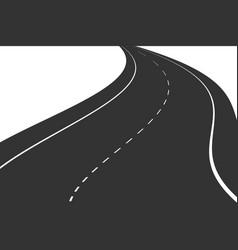 Black road vector