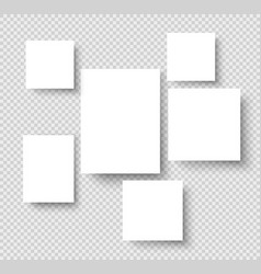 blank hanging photo frames picture gallery paper vector image