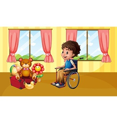Boy in wheelchair vector