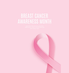 Breast cancer awareness month pink ribbon vector