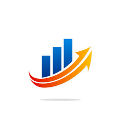 business finance exchange logo vector image
