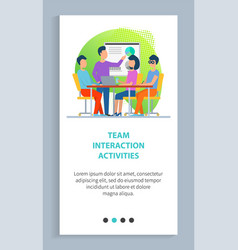 business strategy man and woman workers vector image