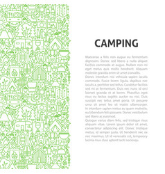 camping line pattern concept vector image