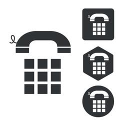 Cellphone icon set monochrome vector