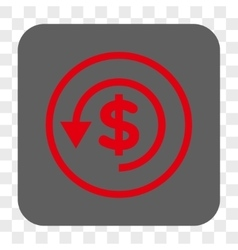 Chargeback rounded square button vector