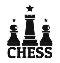 Chess solution game logo simple style vector