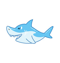 Children toy blue shark kid development vector