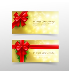 Christmas card template for invitation and gift vector