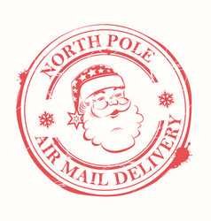 christmas sign stamp with blots and the vector image