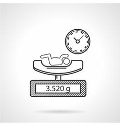 Conceptual flat icon for newborn vector image