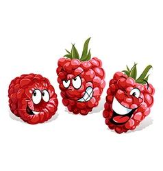 cool raspberry cartoon vector image