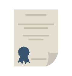 diploma certificate paper icon vector image