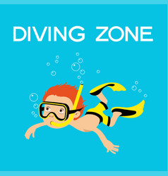 diving zone vector image