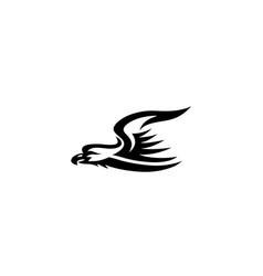eagle flying logo vector image