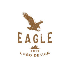 eagle vintage logo design inspiration with rough vector image