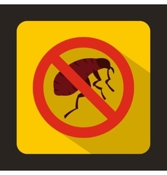 Etching insect icon flat style vector
