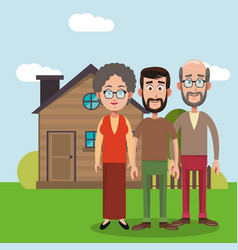 Family members house image vector