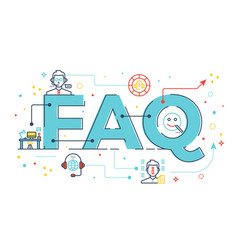 Faq frequently asked questions vector