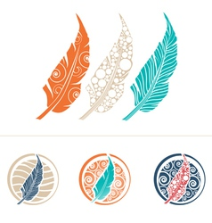 Feather Design Collection vector