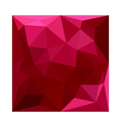 Firebrick red abstract low polygon background vector