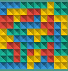 game tetris pixel bricks seamless pattern vector image