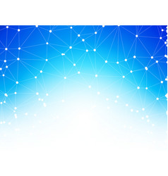 geometric blue background connection between dots vector image