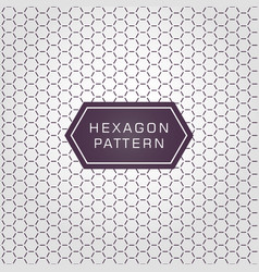 geometric line hexagon pattern background and vector image