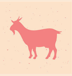 goat vintage logo retro print poster vector image