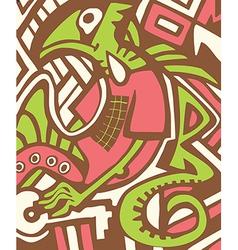 Graffiti sketch with dragon vector